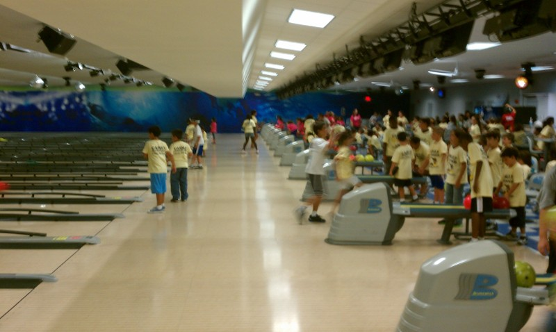 Kids in Bowling Alley