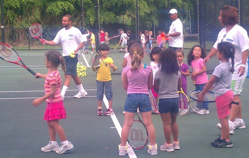 Kids in Tennis Lesson